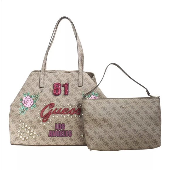 96cffd52f2ae Guess Vikky 81 Large Convertible Tote Set